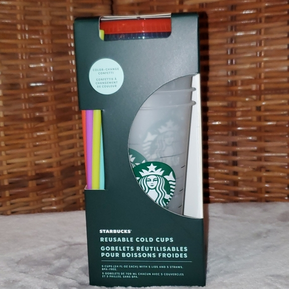 Starbucks Summer 2021 Confetti Color Changing Cups